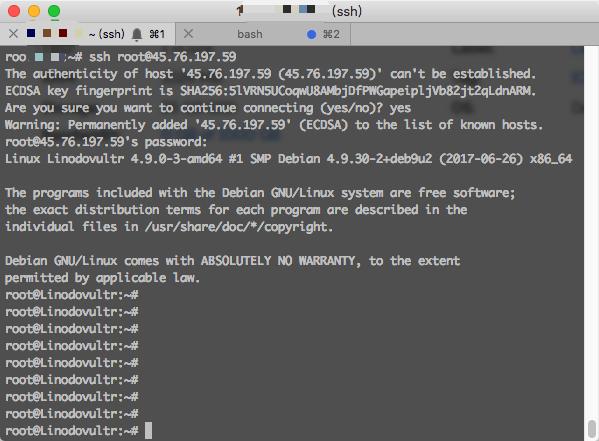 vultr-server-ssh-login
